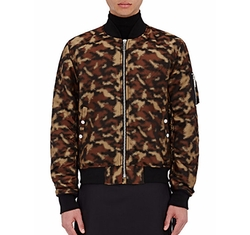 Erek Camouflage Bomber Jacket by Public School in Empire