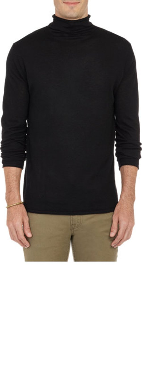 Rolled-Edge Turtleneck Sweater by Barneys New York in Need for Speed