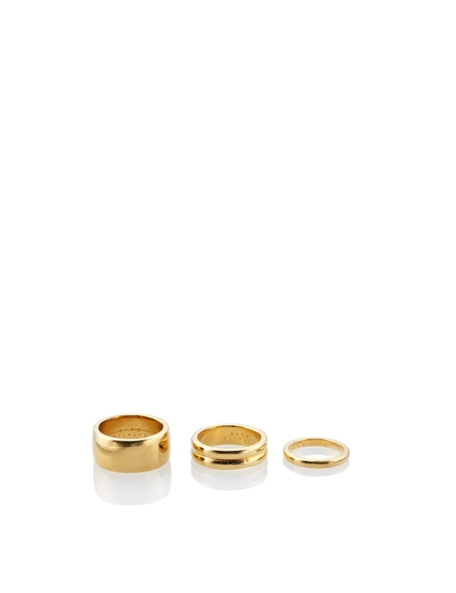 Gold Dawn Ring Set by Estelle Dévé in Knock Knock
