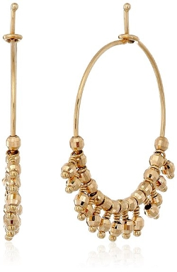 Bead Fringe Hoop Earrings by Mizuki in The Second Best Exotic Marigold Hotel