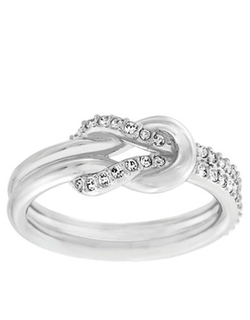 Voile Silvertone and Crystal Knot Ring by Swarovski in Jem and the Holograms
