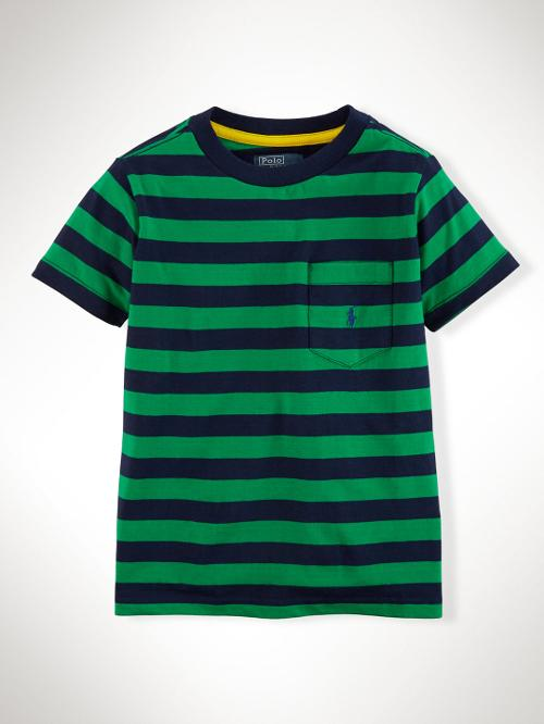 Striped Cotton Pocket by Ralph Lauren in Blended