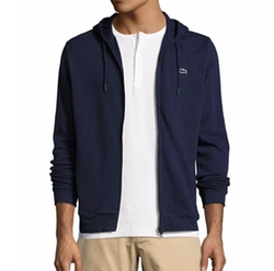 Slub Fleece Zip-Front Hoodie by Lacoste in Alex, Inc.