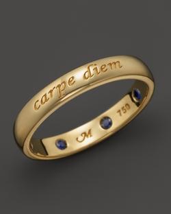 Carpe Diem Posey Ring by Monica Rich Kosann in Suits