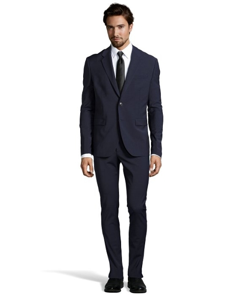 Wool-Blend Two-Button Suit by Cavalli in Self/Less