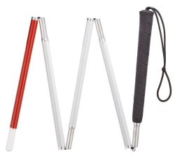 Folding Aluminum Blind Cane by King Products in Ted 2