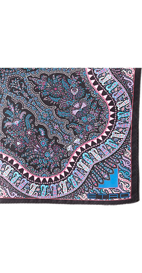 Paisley-Print Silk Pocket Square by Etro in Self/Less