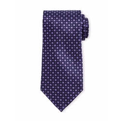 Neat Floral-Dot Patterned Silk Tie by Stefano Ricci in Designated Survivor