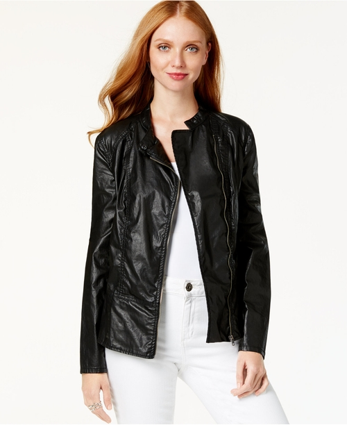 Zippered Moto Jacket by DKNY Jeans in Barbershop: The Next Cut