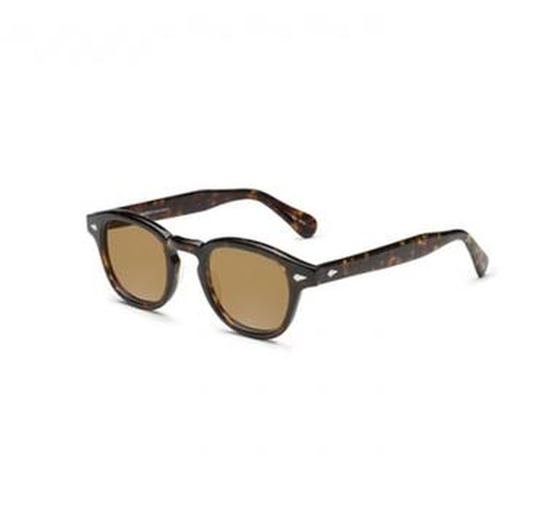 Lemtosh Tortoise Sunglasses by Moscot in Demolition