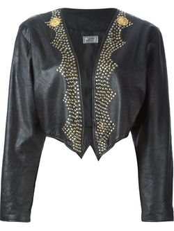 Studded Cropped Jacket by Versace Vintage in Confessions of a Shopaholic