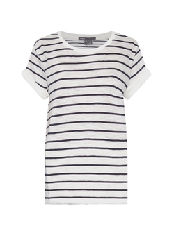 Striped Short Sleeved Cotton T Shirt by Vince in Modern Family