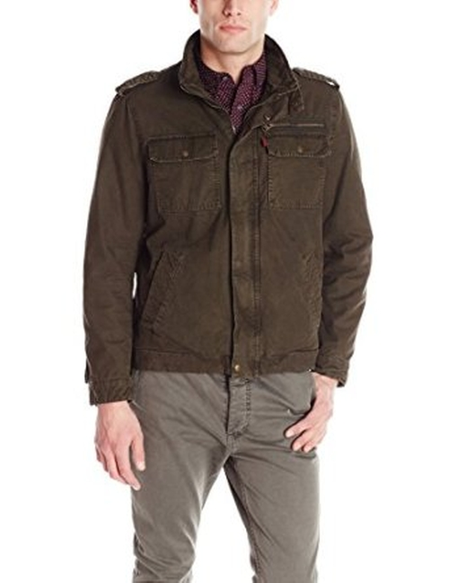 Men's Washed Cotton Two Pocket Military Jacket by Levi's in The Good Wife - Season 7 Episode 2