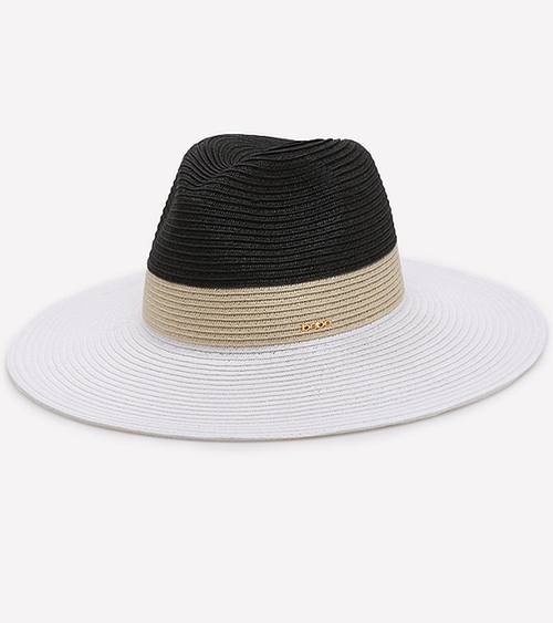 Colorblock Panama Hat by Bebe in Modern Family - Season 7 Episode 21