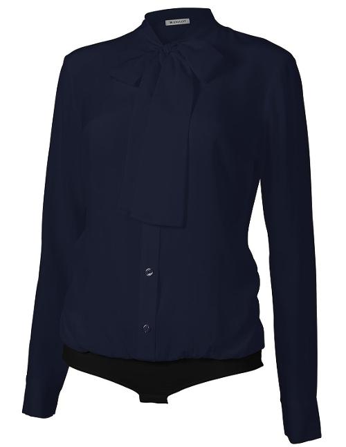 The Boss Bodysuit Blouse by Tuxe Bodywear in Safe House