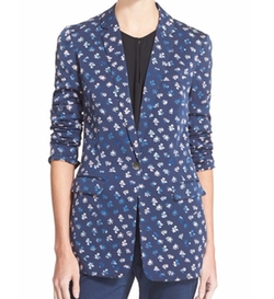 Vinley Floral Print Silk Blazer by Diane Von Furstenberg in The Good Wife