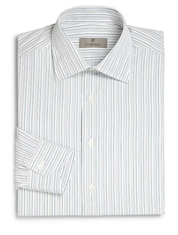 Regular-Fit Striped Dress Shirt by Canali in The Blacklist