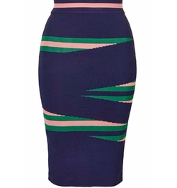 'Eraser Stripe' Tube Skirt by Topshop in Supergirl