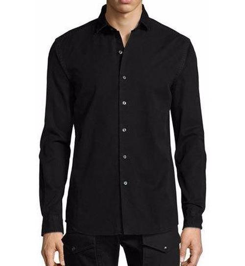 Denim Button-Front Shirt by Ralph Lauren in Collateral Beauty