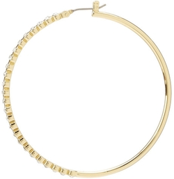 Gold Boho Luxe Stone Hoop Earring by Juicy Couture in Pitch Perfect 2
