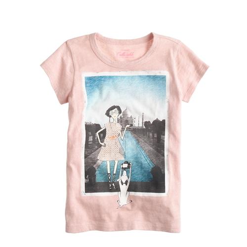 Girls' Olive Taj Mahal T-Shirt by J. Crew in Black-ish - Season 2 Episode 7