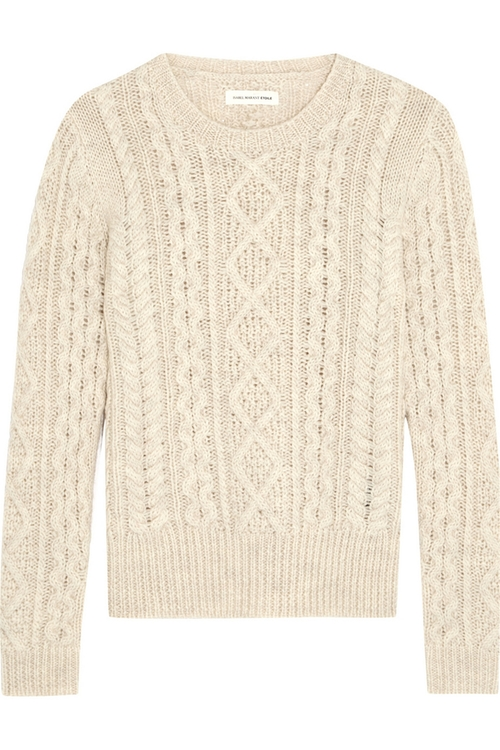 Nilsen Cable-Knit Wool Sweater by ÉToile Isabel Marant in The Proposal