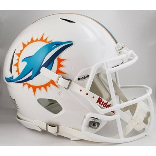 Miami Dolphins NFL Football Helmet by Riddell in Ballers - Season 1 Episode 4