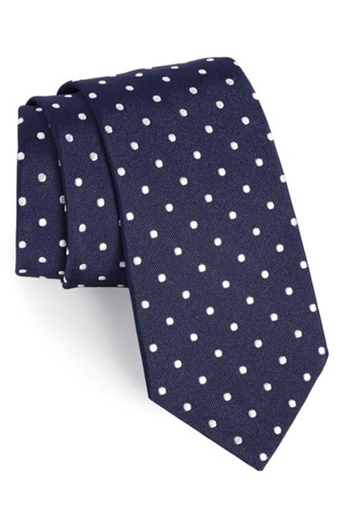 Polka-Dot Silk Satin Tie by Ralph Lauren in San Andreas