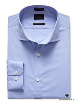 BR Monogram Solid Dress Shirt by Banana Republic in Poltergeist