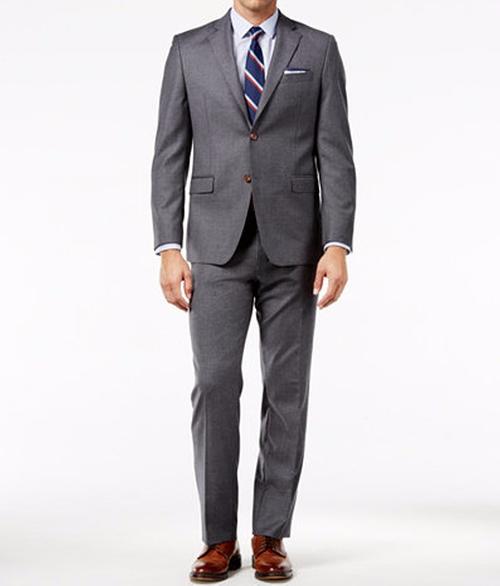 Flannel Solid Slim-Fit Suit by Lauren Ralph Lauren in Marvel's Iron Fist - Season 1 Preview
