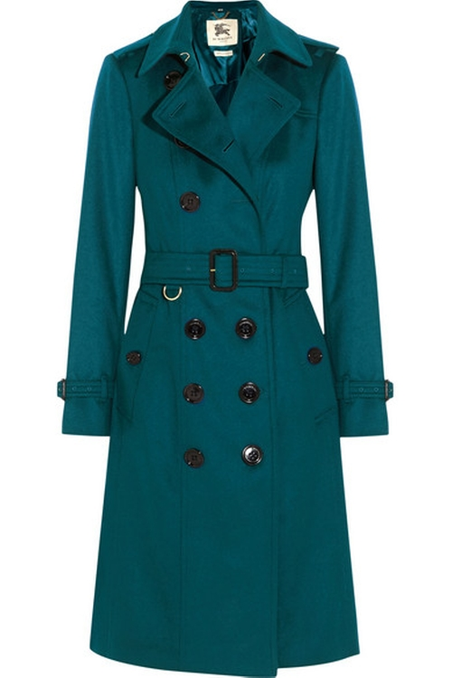Brushed-Cashmere Trench Coat by Burberry London in Conviction - Season 1 Preview