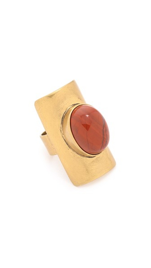 Stone Statement Ring by Tory Burch in Deadpool