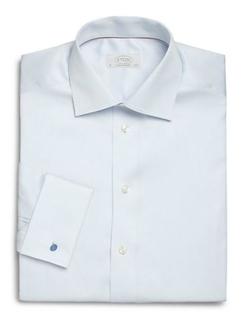 Contemporary-Fit Diamond Cotton Dress Shirt by Eton of Sweden in Survivor
