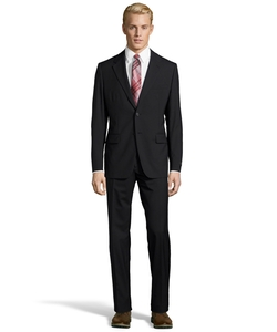 Virgin Wool 2-Button Suit by Prada in Billions