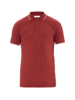 Short-Sleeved Cotton- Piqué Polo- Shirt by Tomas Maier in Burn After Reading