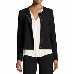 Tarlan Admiral Crepe Zip-Front Jacket by Theory in Designated Survivor