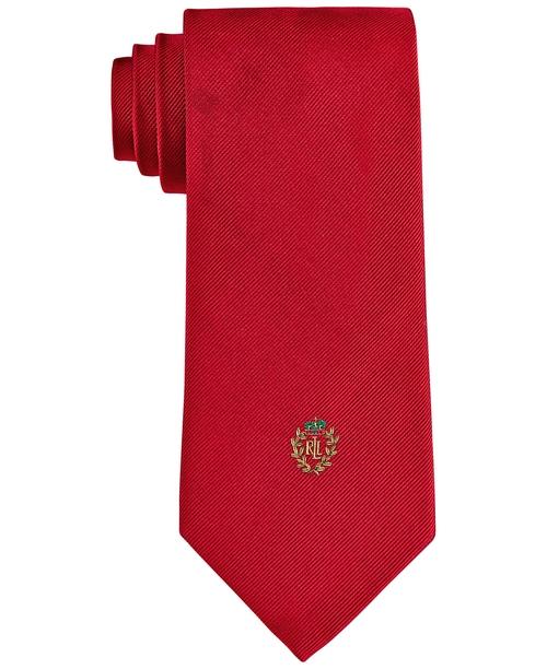 Signature Crest Necktie by Lauren Ralph Lauren in American Ultra