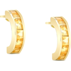 Gemstone Half-Hoop Earrings by Dolce Giavonna in Sisters