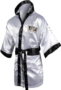 Boxing Full Length Stock Satin Robe by Title Boxing in Magic Mike XXL