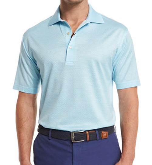 Jacquard-Knit Short-Sleeve Polo Shirt by Peter Millar in Bastards