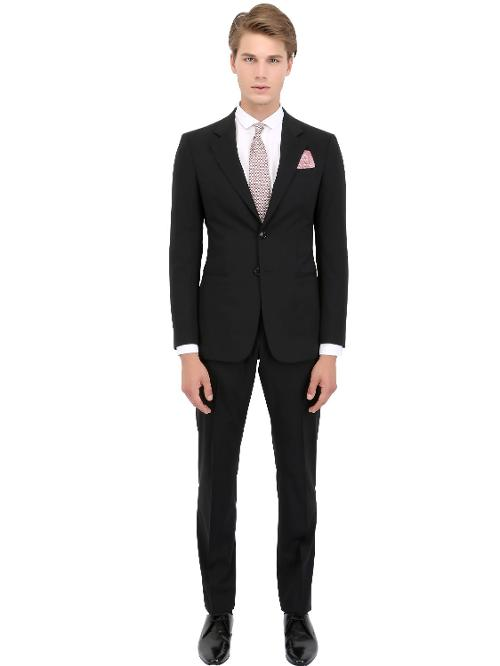 Cool Wool Suit by Giorgio Armani in Yves Saint Laurent