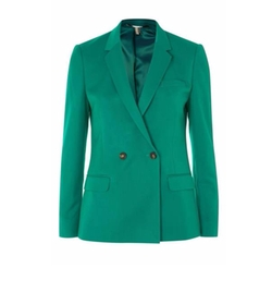 Double Breasted Suit Jacket by Topshop in The Mayor