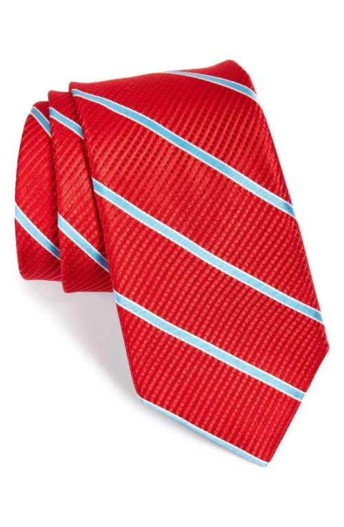 Stripe Silk Tie by Ted Baker London in Safe House