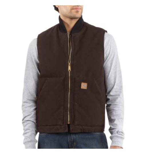 Men's Sandstone Vest/Arctic-Quilt Lined Jacket by Carhartt in Prisoners