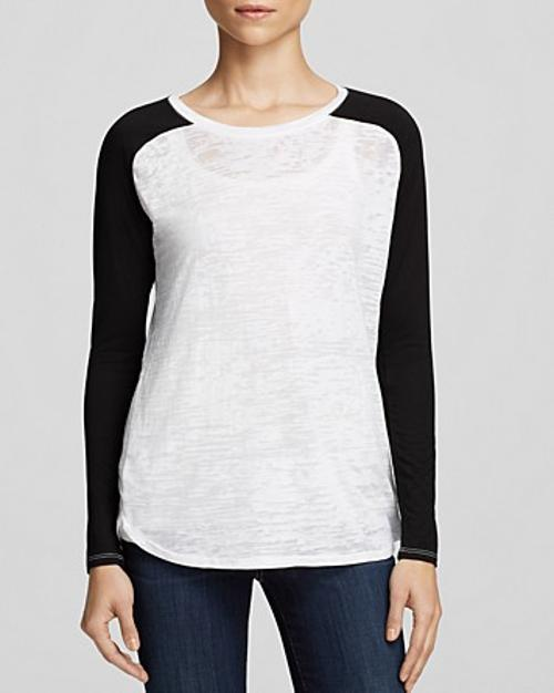 Burnout Color Block Shirt by Nation LTD Tee in The Other Woman