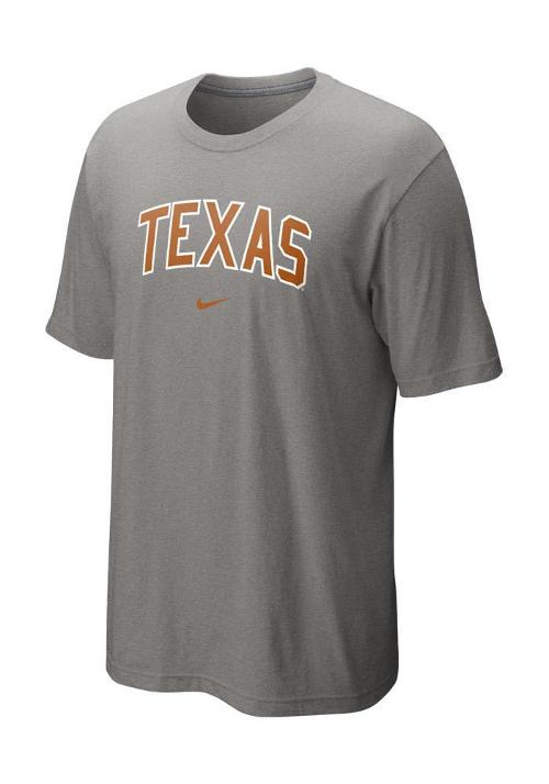 Texas Longhorns Nike T-Shirt - Grey Classic Arch Short Sleeve Tee by NIKE in Walk of Shame