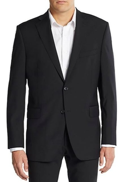 Slim-Fit Wool Blazer by Saks Fifth Avenue in Captive