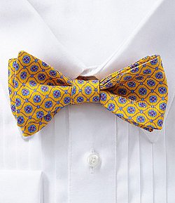 Groovy Neat Silk Bow Tie by Ted Baker London in Shutter Island