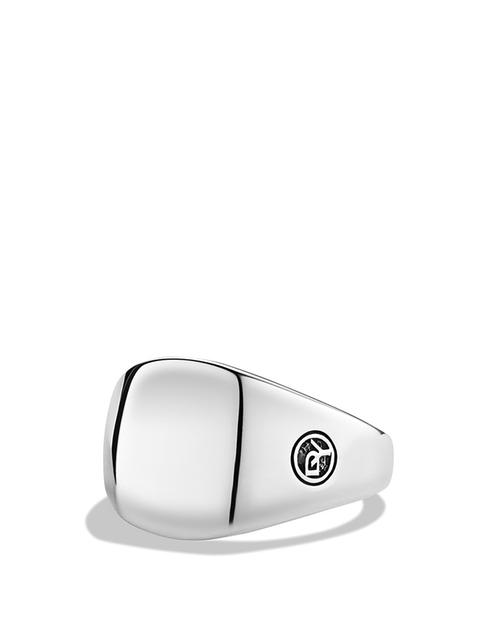DY Logo Small Signet Ring by David Yurman in Legend