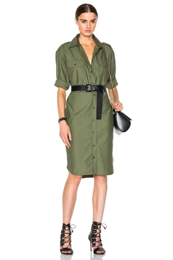 Officer's Long Shirt Dress  by NLST  in Keeping Up With The Kardashians